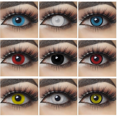 2pcs/Pair Halloween Cosplay Colored Contact Lenses