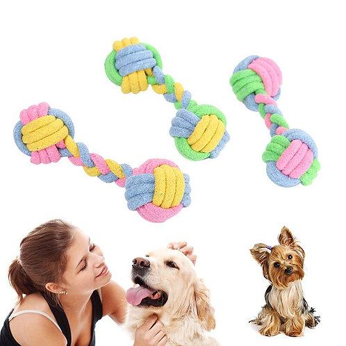 17cm Cat Dog Chew Toy Macaron Cotton Rope Toy Molar
