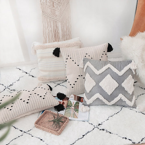 Boho Neutral Decorative Throw Pillow Covers