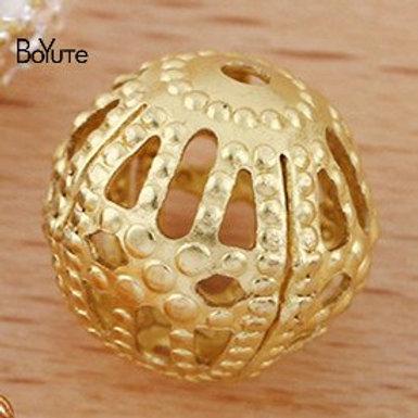 BoYuTe (400 Pieces/Lot) 4-6-8 MM Metal Brass Filigree Beads