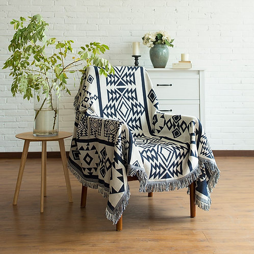 Blankets Bohemian Geometric Pattern Thread Blanket