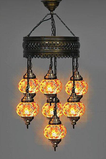 7 GLOBE CHANDELIER Turkish Mosaic Lamp Moroccan