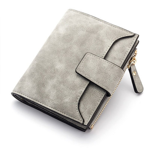 2020 Leather Women Wallet Hasp Small and Slim Coin Pocket