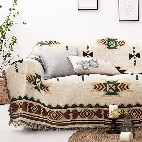 Bohemian Geometry Sofa Blanket Super Soft Cotton Knit