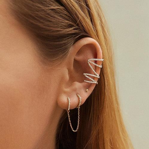 2020 New R=for Women Men Multiclor Gold Long Chain Crystal Boho Clip Earrings