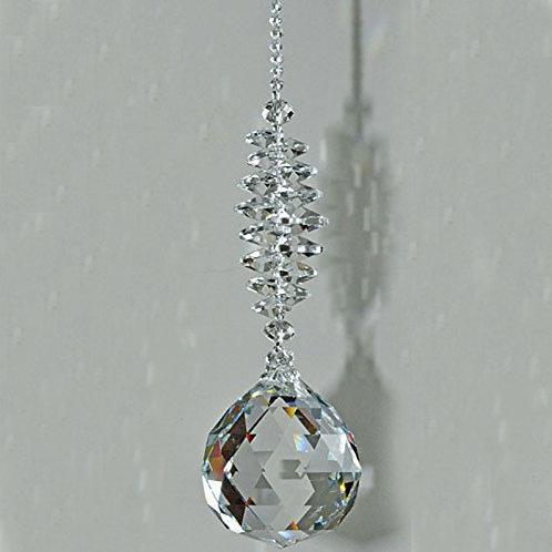 1PCS Clear Crystal Prism Decor