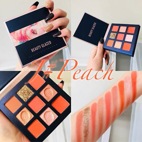 Beauty Glazed Makeup Eyeshadow Pallete 9 Colors Peach