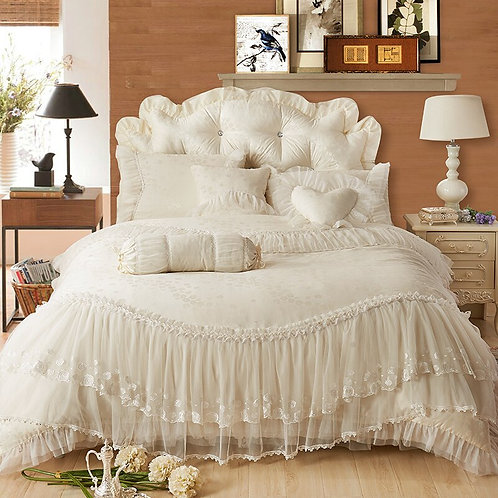 100%Cotton Lace Bedding Set
