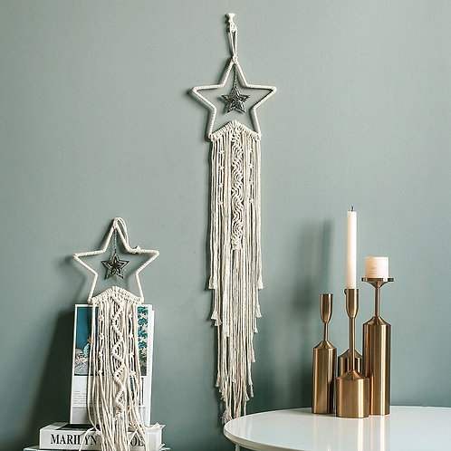 2020 Nordic Boho Hand-Woven Star Tapestries