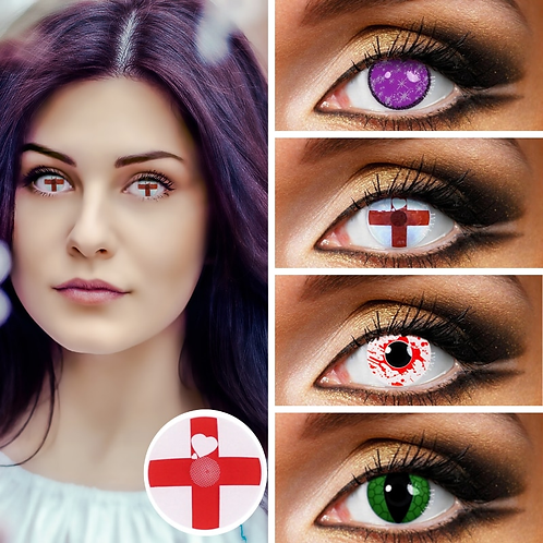 2Pcs/Pair Colored Contact Lenses Cosplay Variety of Styles