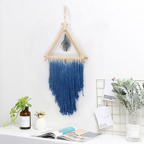 Bohemian Macrame Tassel Feather Handmade Woven