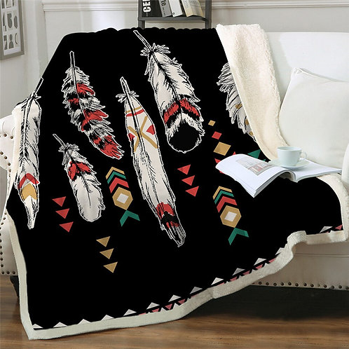BeddingOutlet Sherpa Fleece Blanket Bohemian Throw Blanket