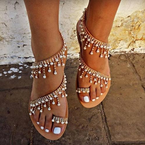 2020 Vintage Boho Sandals Women Leather