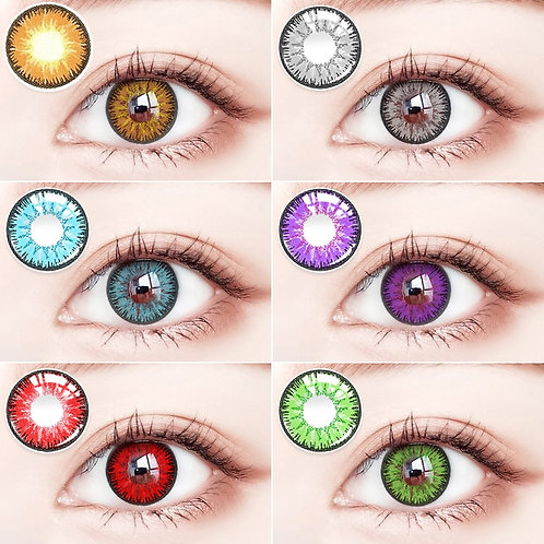 2 Pieces/Pair of Colorful Series Color Contact Lenses,