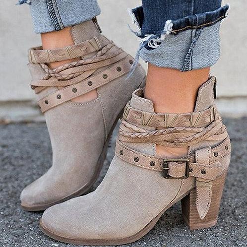 Autumn Winter Ankle Strap Women Boots