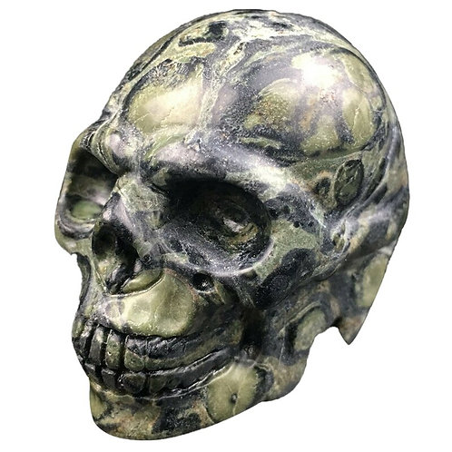 2 Inch Natural Kambaba Jasper Quartz Crystal Skull Carved Skull Reiki Healing