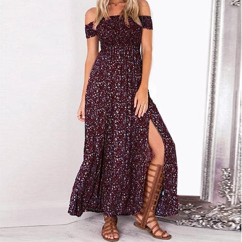 Boho Style Long Dress Women Off Shoulder  Dresses