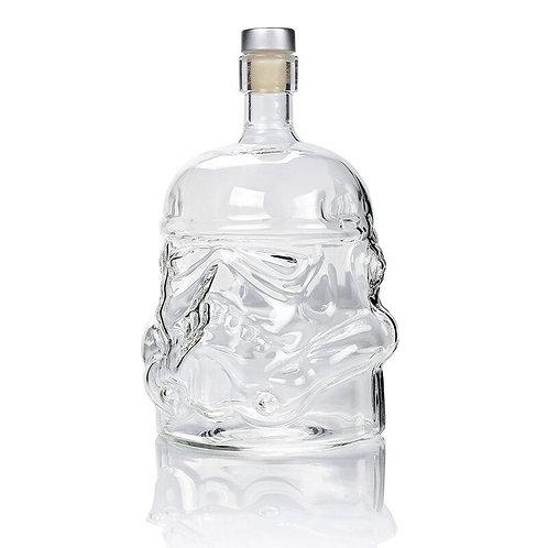 1 Pcs Storm Trooper Decanter  White Soldier Glass Jug Liquor Bottle