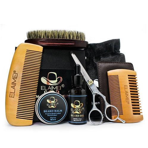 Beard Hair Care Set Beard Oil Comb Brush Whiskers