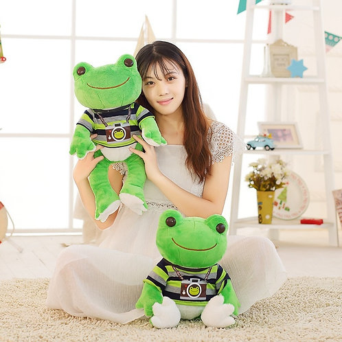 1pc 26cm/53cm Lovely Frog Plush Toy Soft Cartoon
