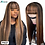 Thumbnail: Allove Straight Human Hair Wigs With Bangs Fringe Wig