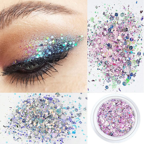 12Colors 10g Nail Decoration Glitter Eye Makeup Sequin Glitter