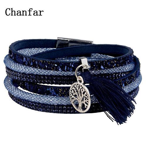 12Styles Multilayer Leather Tassel Bracelet Bohemian  Bracelet Boho