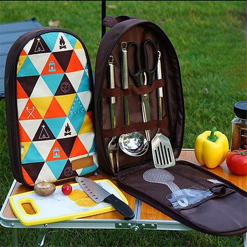 7pcs/Set Camping Kitchenware Set Barbecue Tool Set