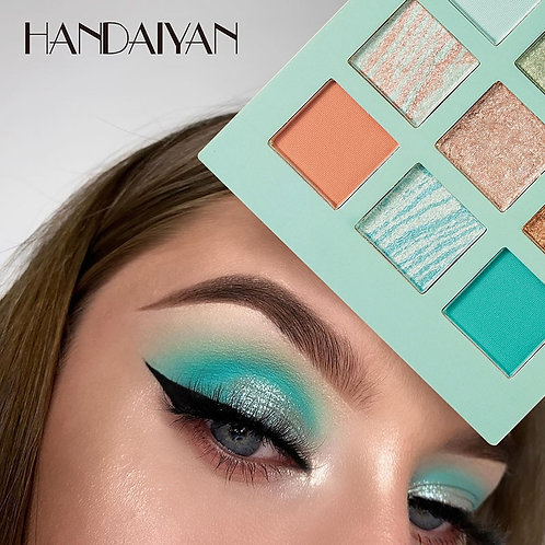 9 Color Nude Shining Eyeshadow Pearlescent Makeup