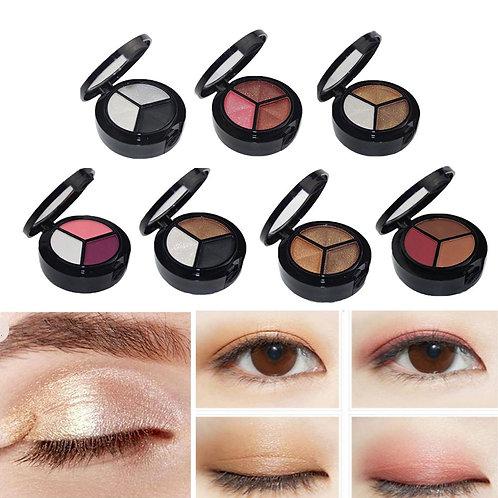 3 Colors Women Eye Shadow Palette Smokey Matte Shadow