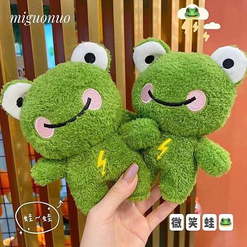 7cm Good Quality Teddy Bear Smile Frog Plush Toy Keychain