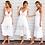 Thumbnail: 2020 Fashion Boho Long Maxi Dress Women Summer Ladies Sleeveless White