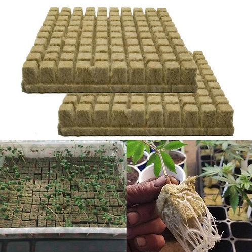 25/50/100pcs Rockwool Sheet Block Propagation Cloning SeedH ydroponic 25x25x40MM
