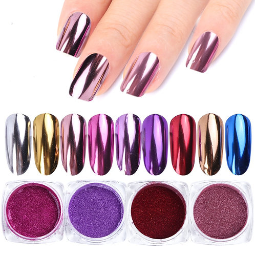 0.5g Nail Mirror Glitter Powder Metallic Color Nail Art Gel