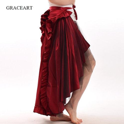 Steampunk Skirt Victorian Women Ruffle