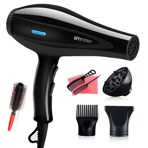220V Hair Dryer Blow Air With Concentrator Nozzles