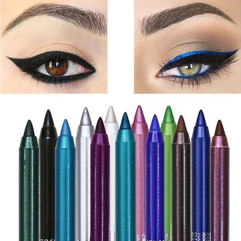 12 Colors Long-Lasting Eye Liner Pencil Waterproof Color Eye Makeup Cosmetic