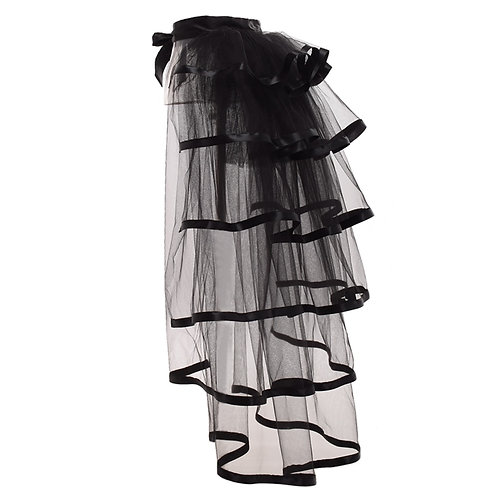 Party Tutu Tail Tiered Tulle Skirt Burlesque Steampunk