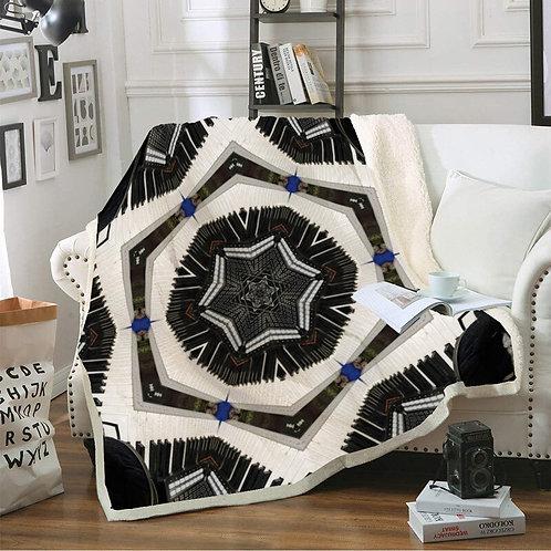 Bohemian Lambskin Blanket Double-Layer Plush Wool Blanket