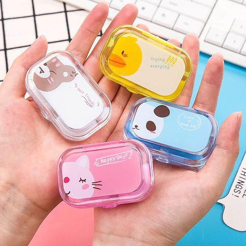 1PC Cartoon Candy Color Contact Lens Case