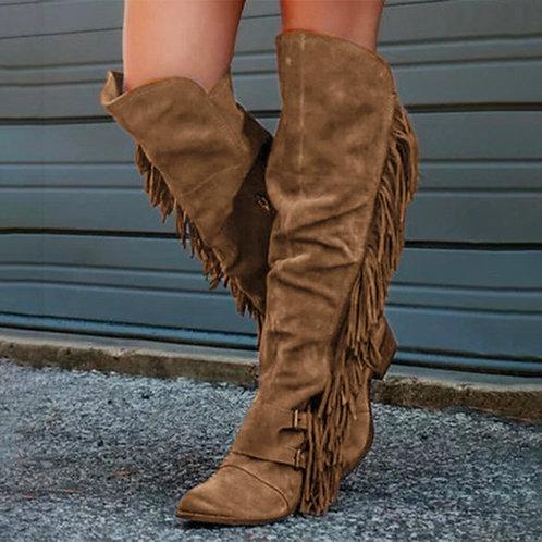 2020 Fashion Bohemian Boho Knee High Boot Ethnic Women