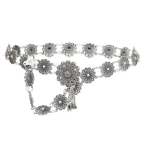 Bohemian Vintage Style Body Chain Silver