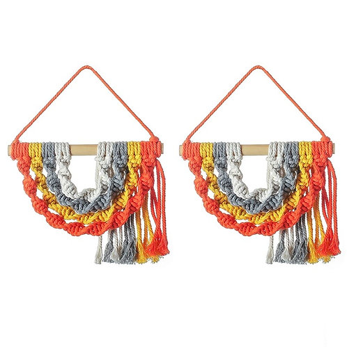 2PC Macrame Wall Hanging Tapestry Wall Decor