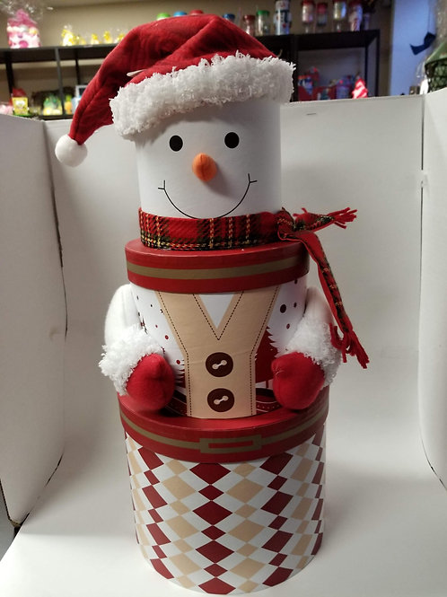 Large Snowman filled with random selection of bath bombs