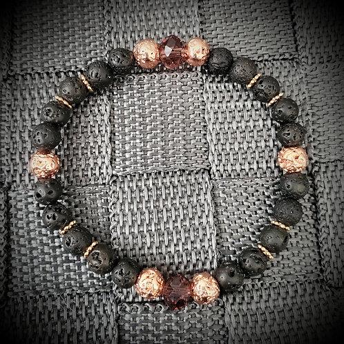 Rose gold & Deep Amber Swarovski Bracelet