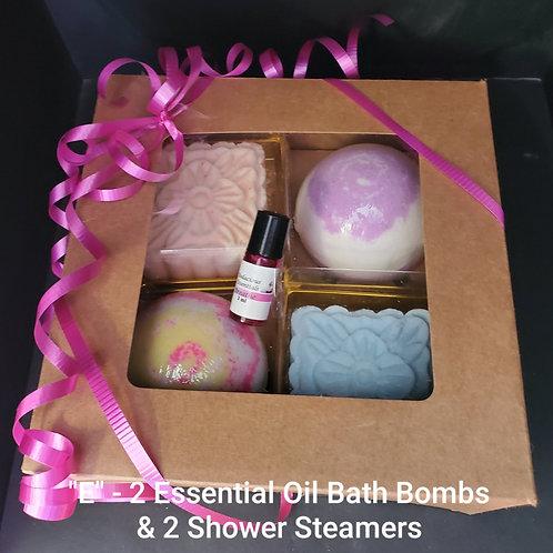 Gift Box - E - Random 3ml Essential Oil in centre
