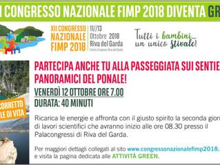 ATTIVITA' GREEN - XII CONGRESSO NAZIONALE FIMP, 12 OTTOBRE 2018 Riva del Garda