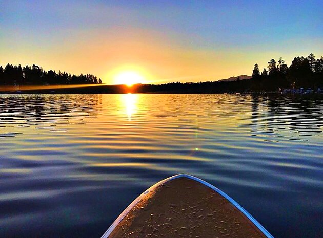 Kayaking on Lake Arrowhead, CA