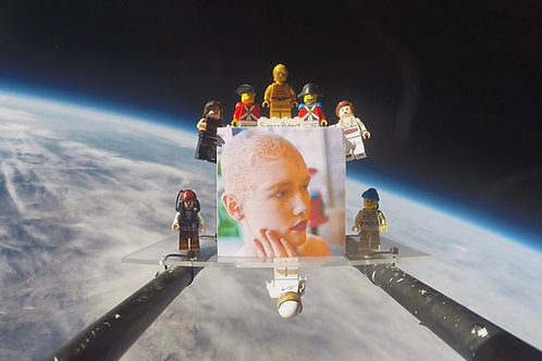 Ash Scattering + Memorial Display in the Stratosphere