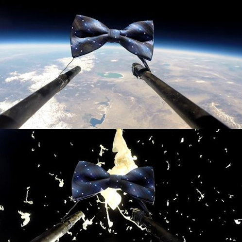 Psychedelic Blue Space Bow Tie
